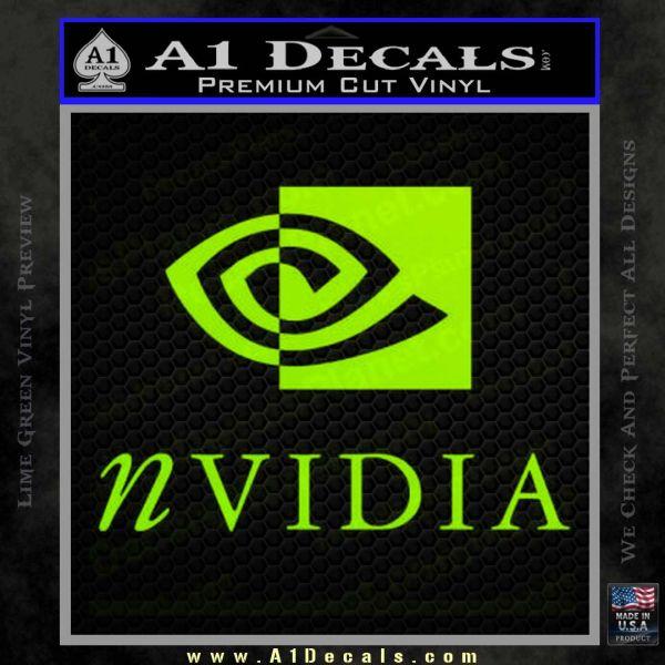 Nvidia Full Decal Sticker Lime Green Vinyl