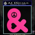 Peace Love Decal Sticker Pink Hot Vinyl 120x120