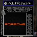Porche Decal Sticker Wide Logo Orange Emblem 120x120