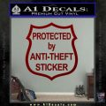 Protected By Anti Theft Decal Sticker DRD Vinyl 120x120