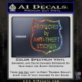 Protected By Anti Theft Decal Sticker Glitter Sparkle 120x120