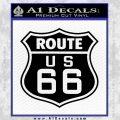 Route 66 Decal Sticker Black Vinyl 120x120