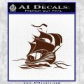 Sailing Boat Decal Sticker BROWN Vinyl 120x120