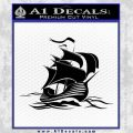 Sailing Boat Decal Sticker Black Vinyl 120x120