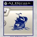 Sailing Boat Decal Sticker Blue Vinyl 120x120