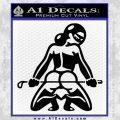 Sexy Girl 7 Decal Sticker Black Vinyl 120x120