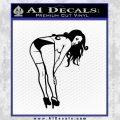 Sexy Girl Posing 3 Small Decal Sticker Black Vinyl 120x120