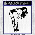 Sexy Lady Bending Over B 1 Decal Sticker Black Vinyl 120x120