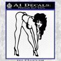 Sexy Race Girl Decal Sticker Black Vinyl 120x120