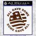 Some Gave All Decal Sticker Brown Vinyl 120x120