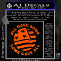 Some Gave All Decal Sticker Orange Emblem 120x120