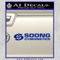Soong Cybernetics Star Trek Decal Sticker Blue Vinyl 120x120