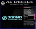 Soong Cybernetics Star Trek Decal Sticker Light Blue Vinyl 120x97