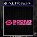 Soong Cybernetics Star Trek Decal Sticker Neon Pink Vinyl 120x120