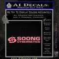 Soong Cybernetics Star Trek Decal Sticker Soft Pink Emblem 120x120