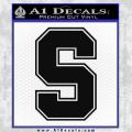 Stanford S Decal Sticker Black Vinyl 120x120