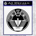 Star Gate SG1 Logo Decal Sticker Black Vinyl 120x120