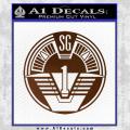 Star Gate SG1 Logo Decal Sticker Brown Vinyl 120x120
