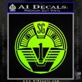 Star Gate SG1 Logo Decal Sticker Neon Green Vinyl 120x120