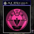 Star Gate SG1 Logo Decal Sticker Neon Pink Vinyl 120x120