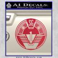 Star Gate SG1 Logo Decal Sticker Red Vinyl 120x120