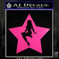 Star Pinup Decal Sticker Neon Pink Vinyl 120x120