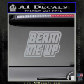 Star Trek Beam Me Up Decal Sticker Grey Vinyl 120x120