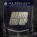 Star Trek Beam Me Up Decal Sticker Metallic Silver Vinyl 120x120