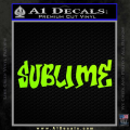 Sublime Decal Sticker Neon Green Vinyl 120x120