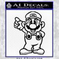 Super Mario Decal Sticker Black Standing Decal Sticker Black Vinyl 120x120