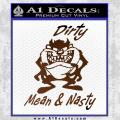 Taz Decal Sticker Tasmanian Devil Dirty Mean Brown Vinyl 120x120
