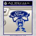 Taz Ford Decal Sticker Tasmanian Devil Blue Vinyl 120x120
