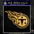 Tennessee Titans Decal Sticker Gold Metallic Vinyl 120x120