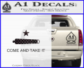 Texas Flag Come and Take It Decal Sticker CFB Vinyl 120x97