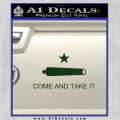 Texas Flag Come and Take It Decal Sticker Dark Green Vinyl 120x120