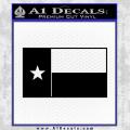 Texas State Flag Decal Sticker Black Vinyl 120x120