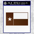Texas State Flag Decal Sticker Brown Vinyl 120x120