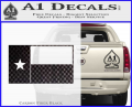 Texas State Flag Decal Sticker CFB Vinyl 120x97