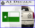 Texas State Flag Decal Sticker Green Vinyl 120x97