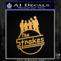 The Strokes D1 Decal Sticker Gold Metallic Vinyl 120x120