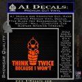 Think Twice Because I Wont D2 Decal Sticker Orange Emblem 120x120