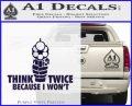 Think Twice Because I Wont D2 Decal Sticker PurpleEmblem Logo 120x97