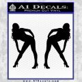 Two Ladies Nude Decal Sticker Black Vinyl 120x120