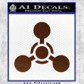 US Army Chemical Warfare Decal Sticker BROWN Vinyl 120x120