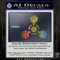 US Army Chemical Warfare Decal Sticker Glitter Sparkle 120x120