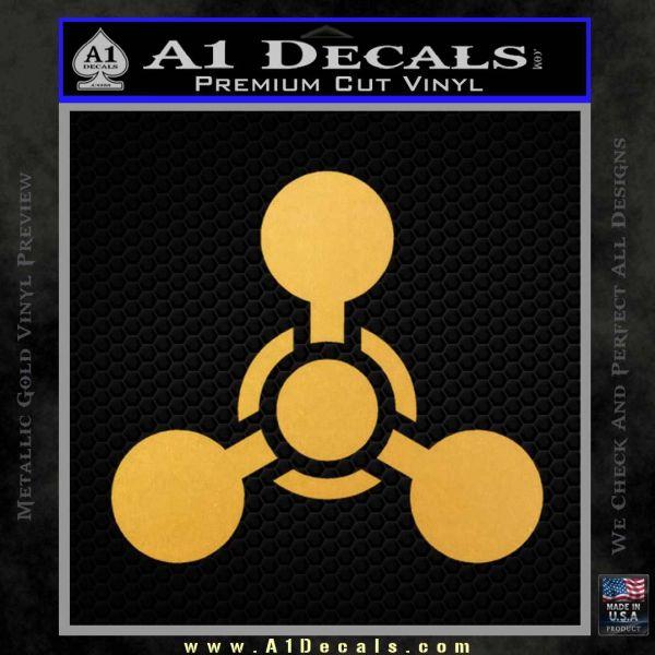 US Army Chemical Warfare Decal Sticker Gold Vinyl