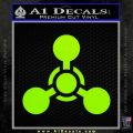 US Army Chemical Warfare Decal Sticker Lime Green Vinyl 120x120