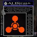US Army Chemical Warfare Decal Sticker Orange Emblem 120x120