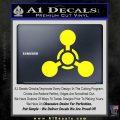 US Army Chemical Warfare Decal Sticker Yellow Laptop 120x120