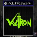 Voltron Decal Sticker Wide Lime Green Vinyl 120x120